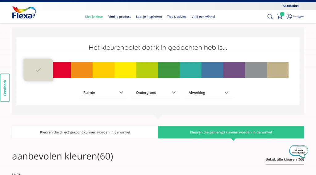 flexa kleurenpalet samensteller